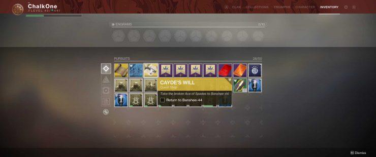 How to Get the Ace of Spades in Cayde's Will in Destiny 2: Forsaken