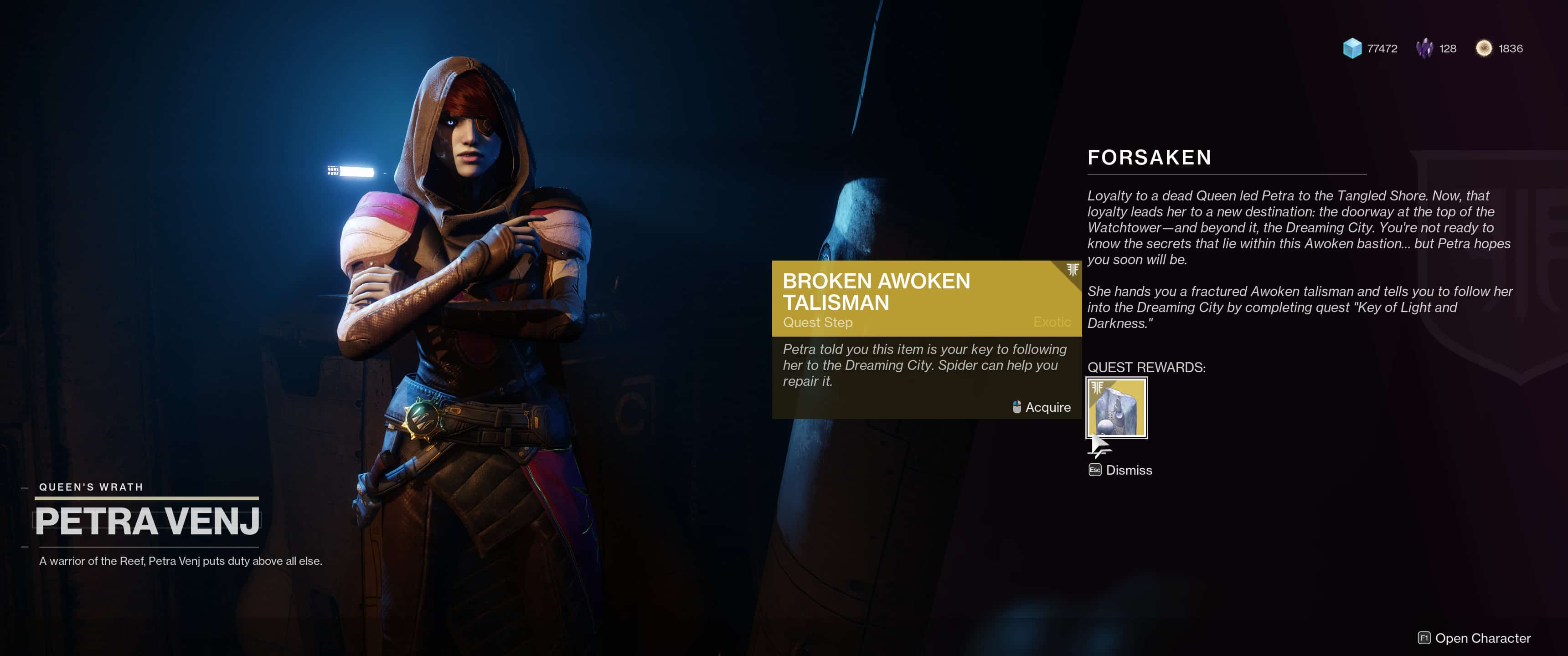Repair the Broken Awoken Talisman & Unlock the Dreaming City