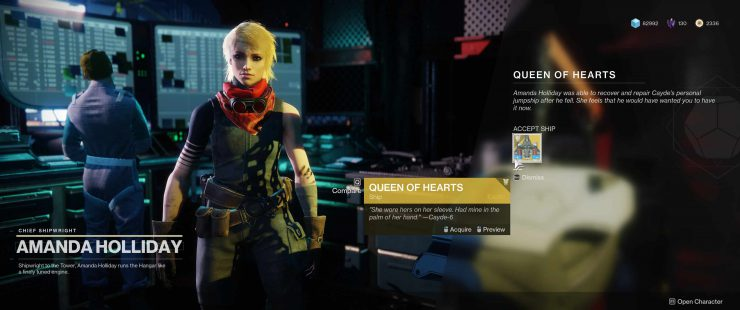 How to Get the Queen of Hearts, Cayde's Exotic Ship in Destiny 2: Forsaken