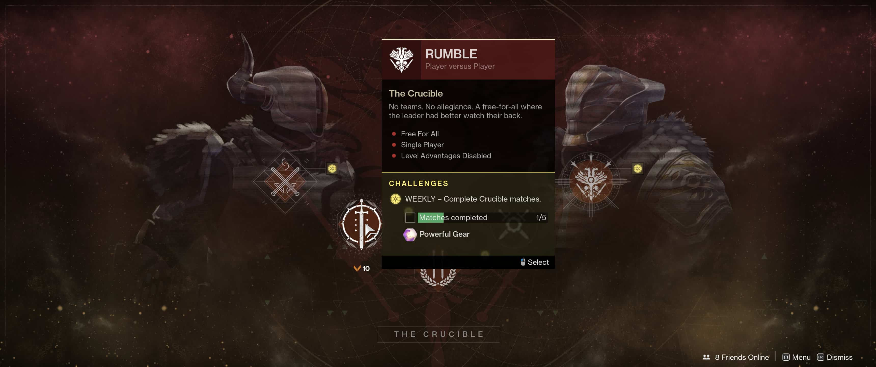 destiny matchmaking for daily heroic