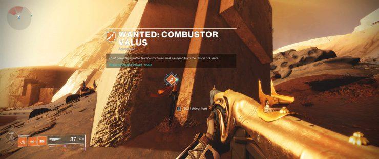 Destiny 2: Forsaken - Wanted: Combustor Valus Weekly Bounty