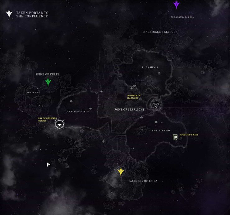 Detailed Dreaming City Map for Destiny 2: Forsaken