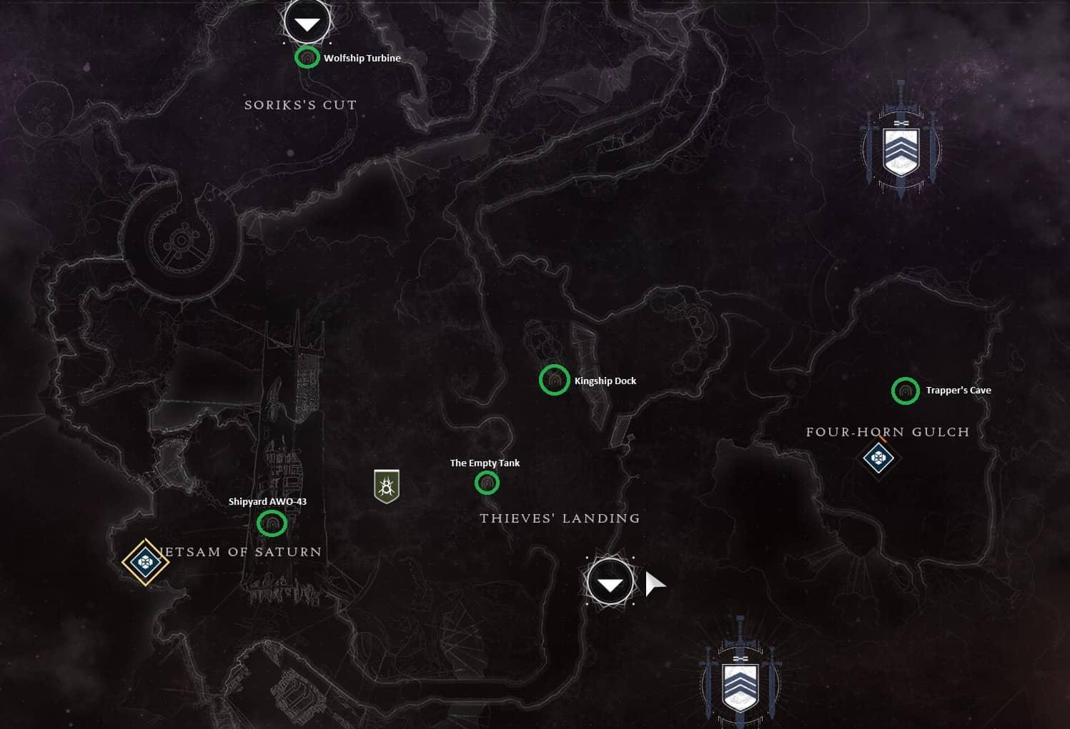 Lost Sector Maps For Destiny 2 And Destiny 2 Forsaken