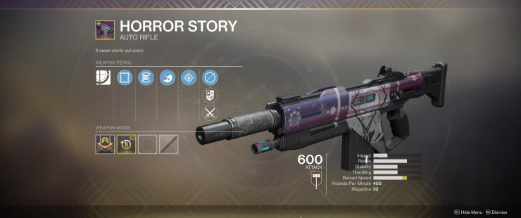 Destiny 2 - How To Get The Horror Story Auto Rifle