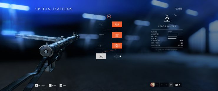 How do Weapon Specializations Work in Battlefield V?