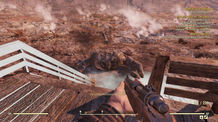 Fallout 76 Grafton Monster Dead