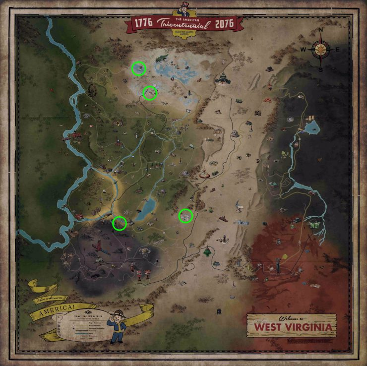 Fallout 76 - Known Grafton Monster Spawn Locations