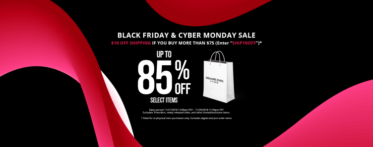 Cash in on Sweet Deals in Square Enix' Black Friday Sale