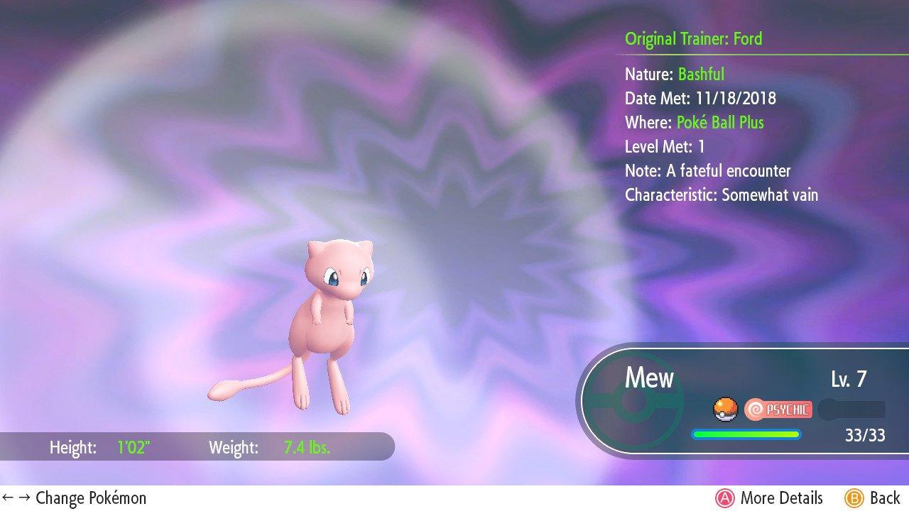 Pokemon LetS Go Mew
