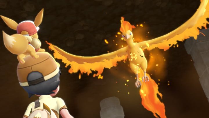 Where is Moltres in Pokemon Let's Go?