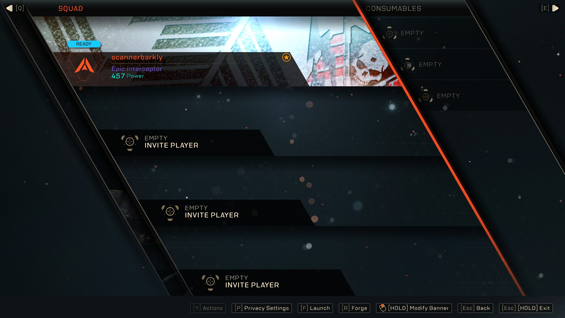 Anthem Squad Screen
