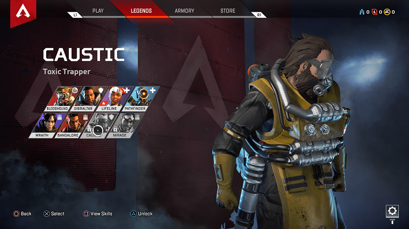 Apex Legends How to unlock Caustic and Mirage
