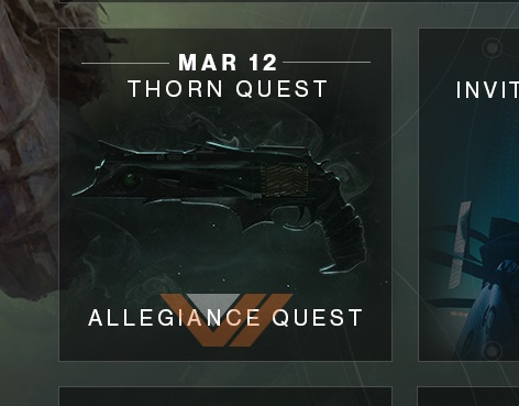 The Thorn Displayed on Bungie's Roadmap