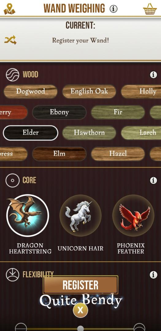 Harry Potter Wizards Unite Wand Options