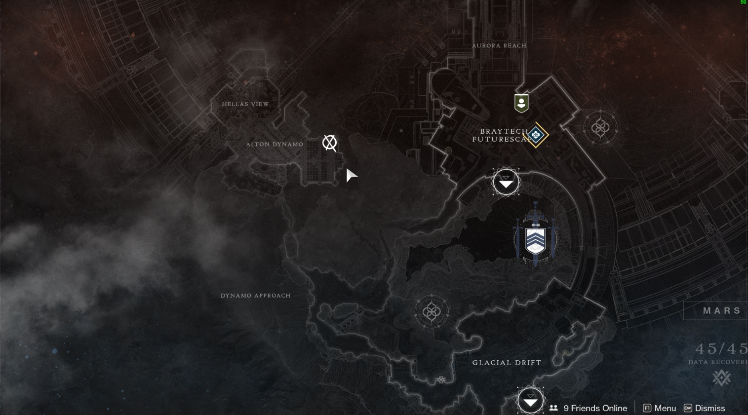 Destiny 2 Mars Map