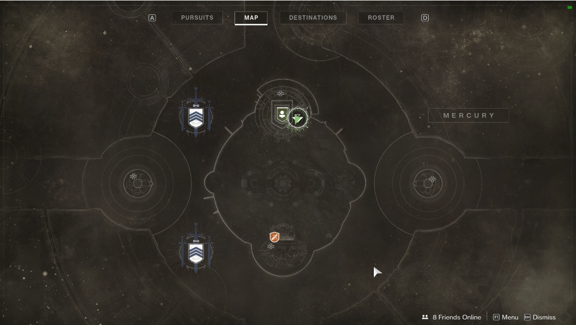 Mercury Maps Destiny 2