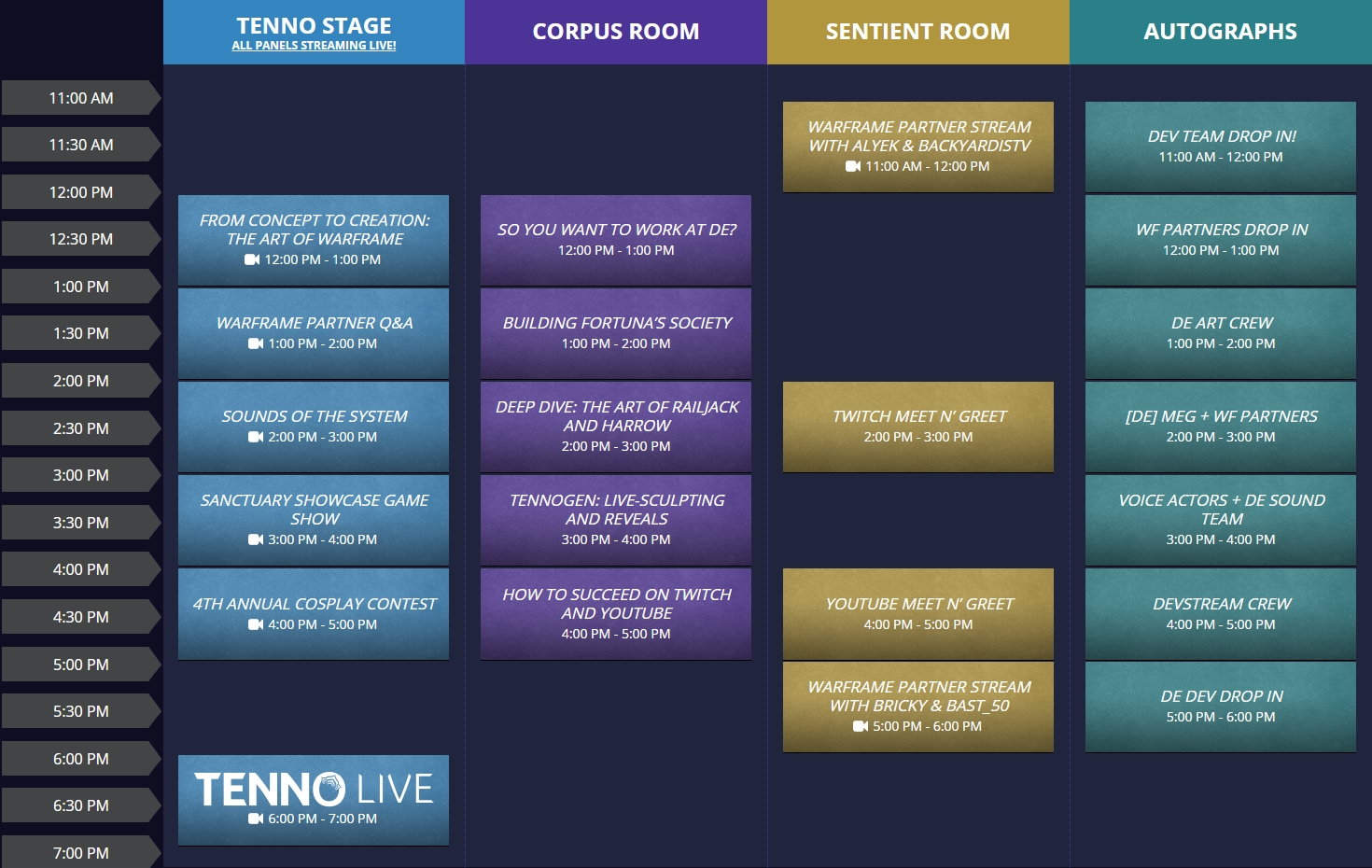 Tennocon 2019 Schedule And Twitch Drops