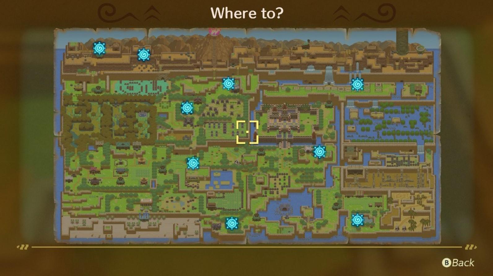 Legend Of Zelda Link S Awakening On Switch All Warp Point