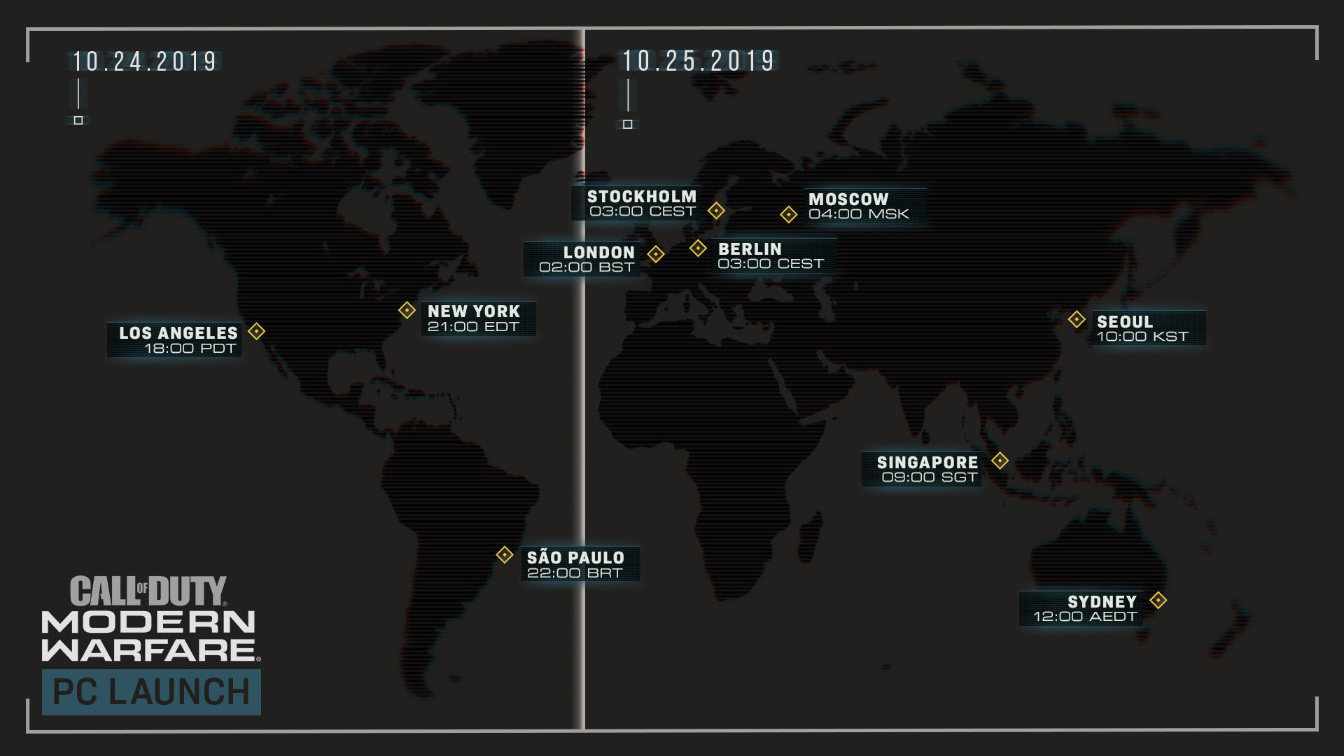 Call of Duty: Release Schedule by Time Zone