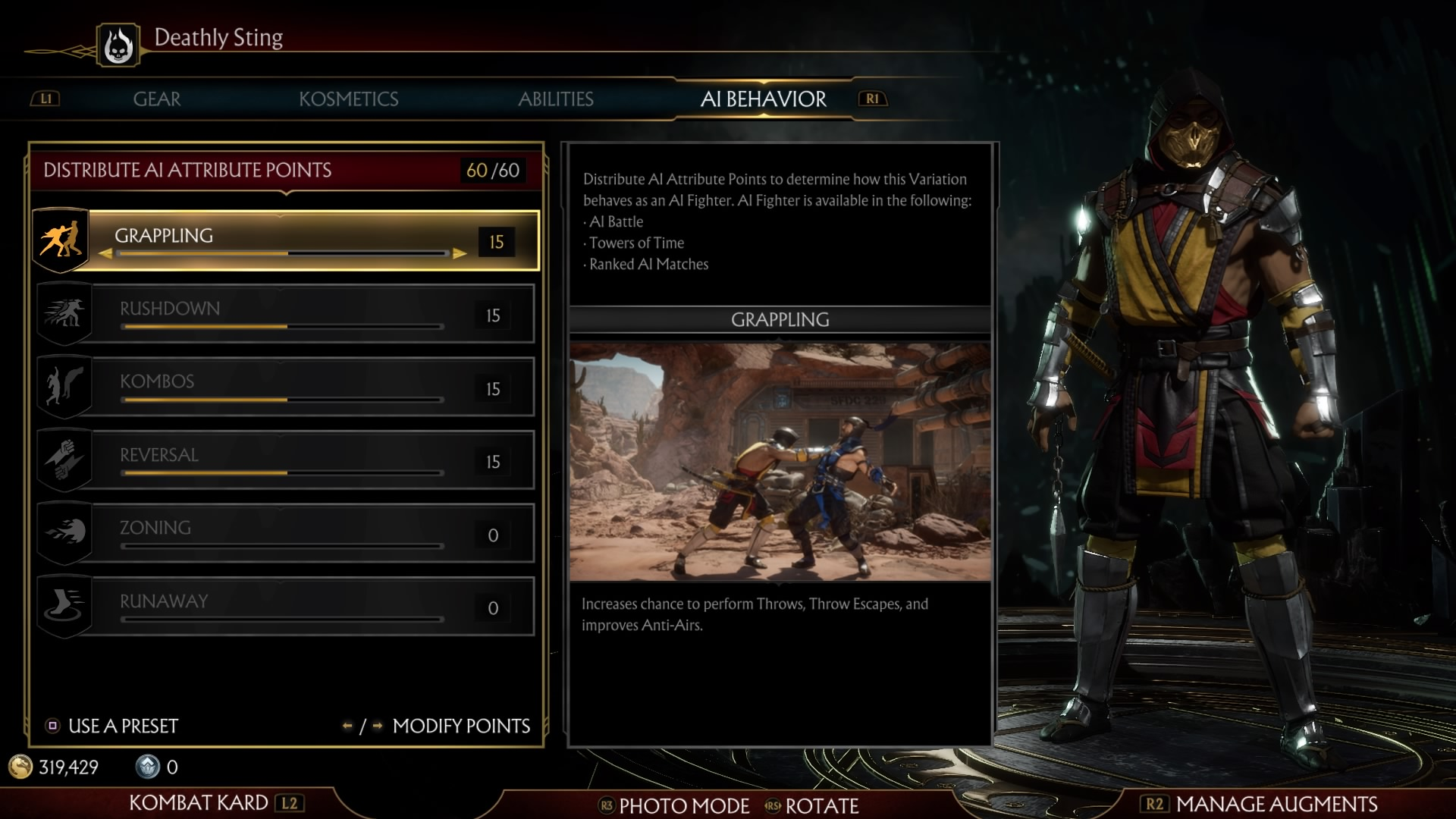 Mortal Kombat 11 AI Options