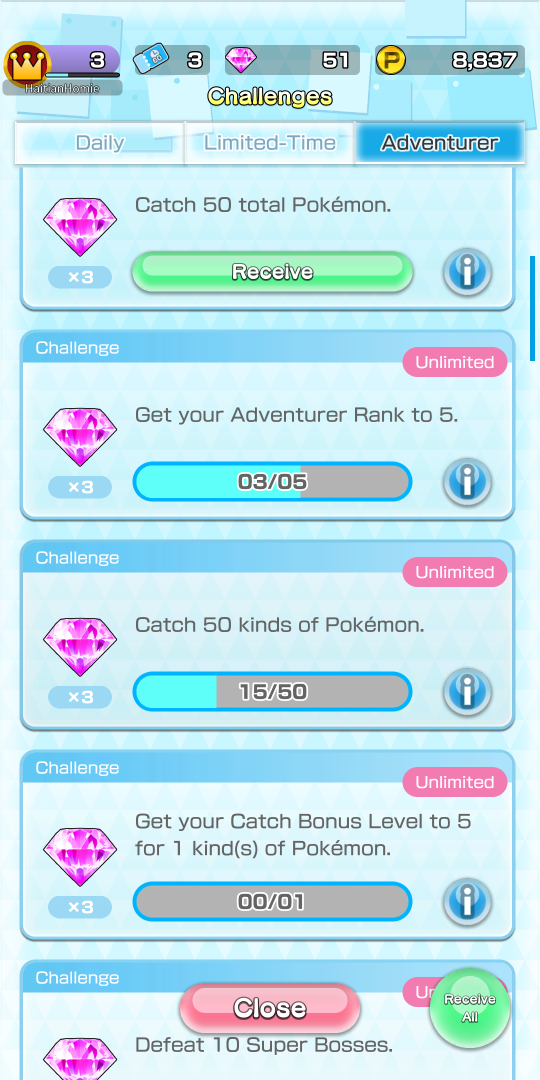 Pokemon Rumble Rush Challenges