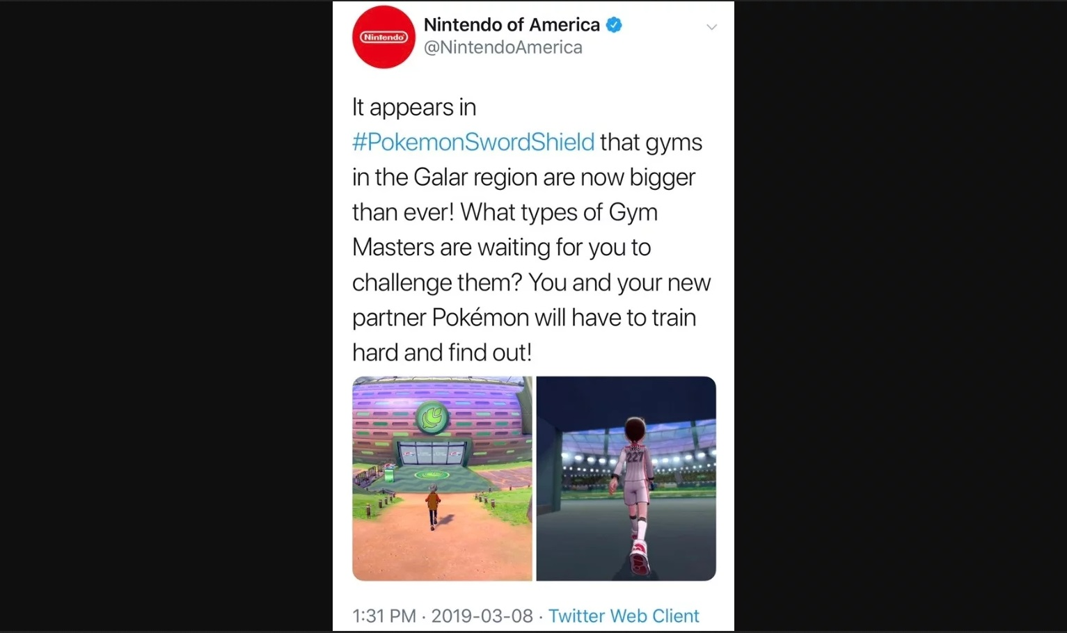 Nintendo Of America Deletes Tweets About Gyms In Pokemon Sword And