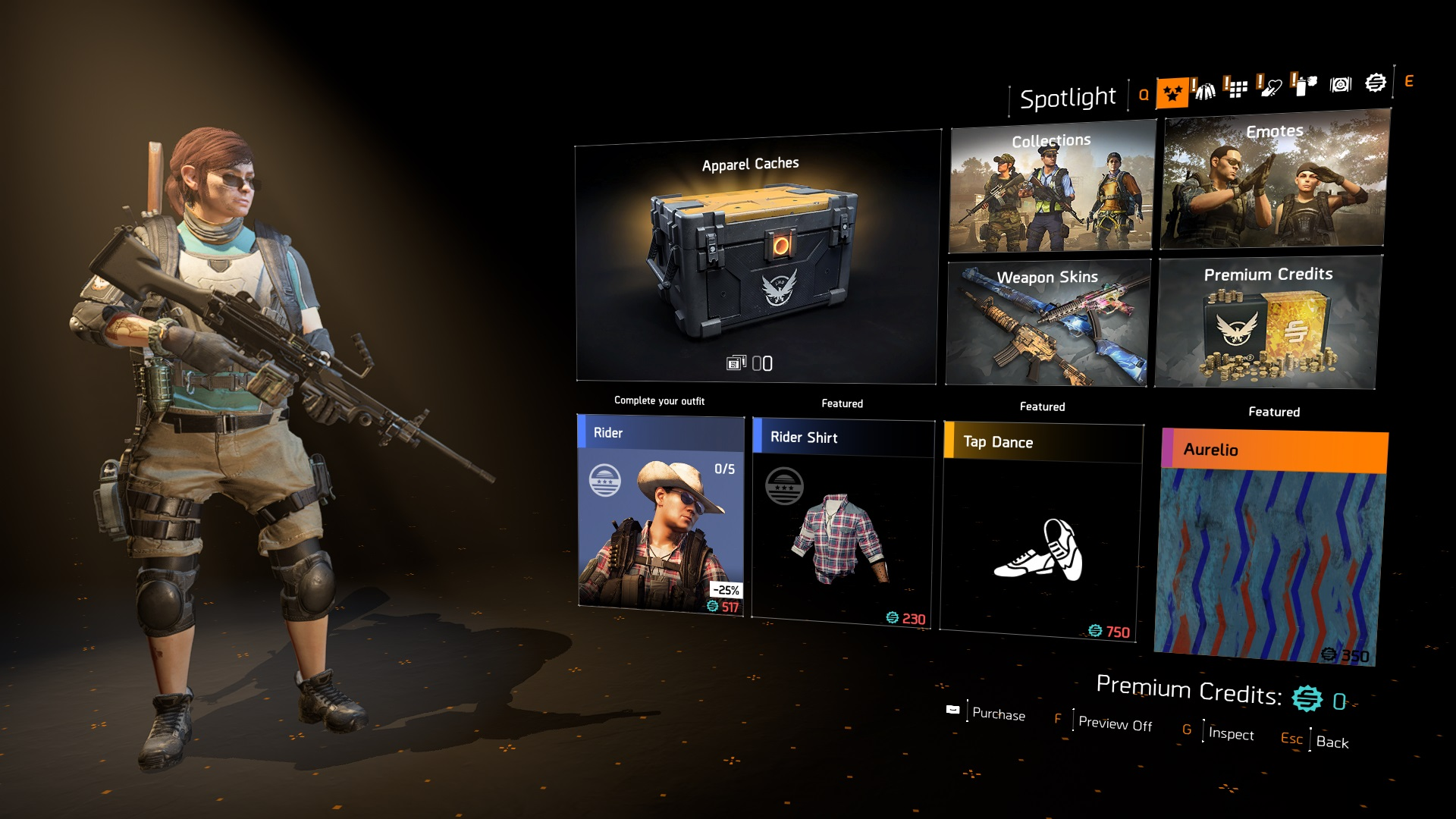 The Division 2 Apparel Store