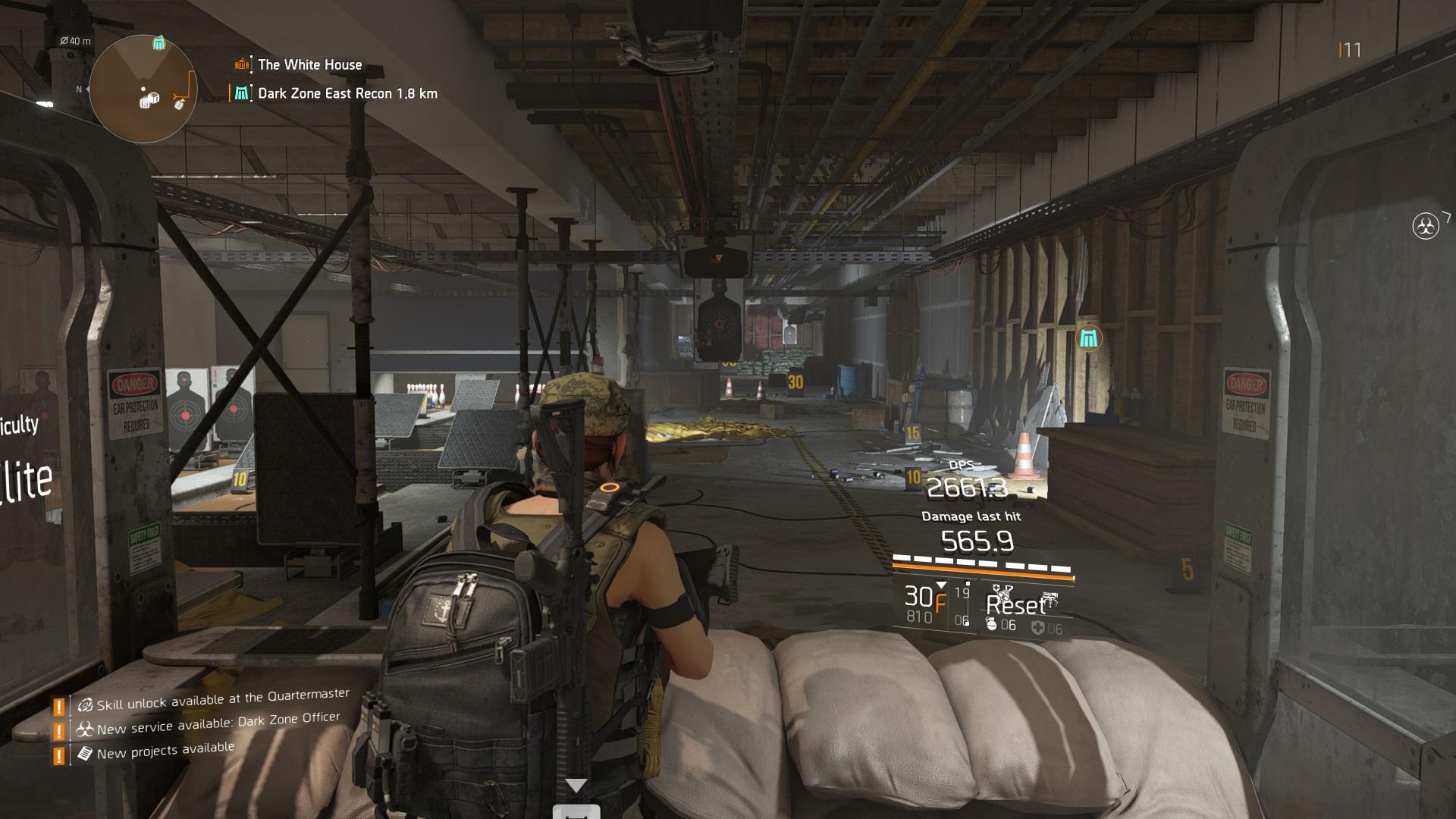 The Division 2 Gun Range DPS