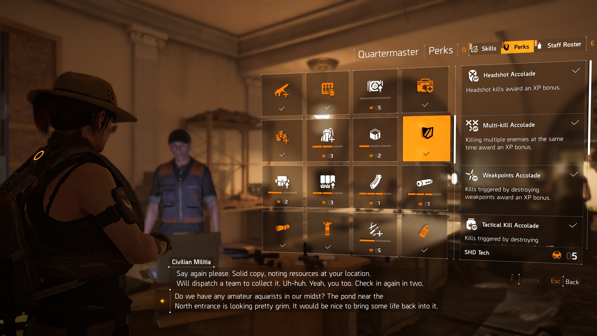The Division 2 Experience Point Perks