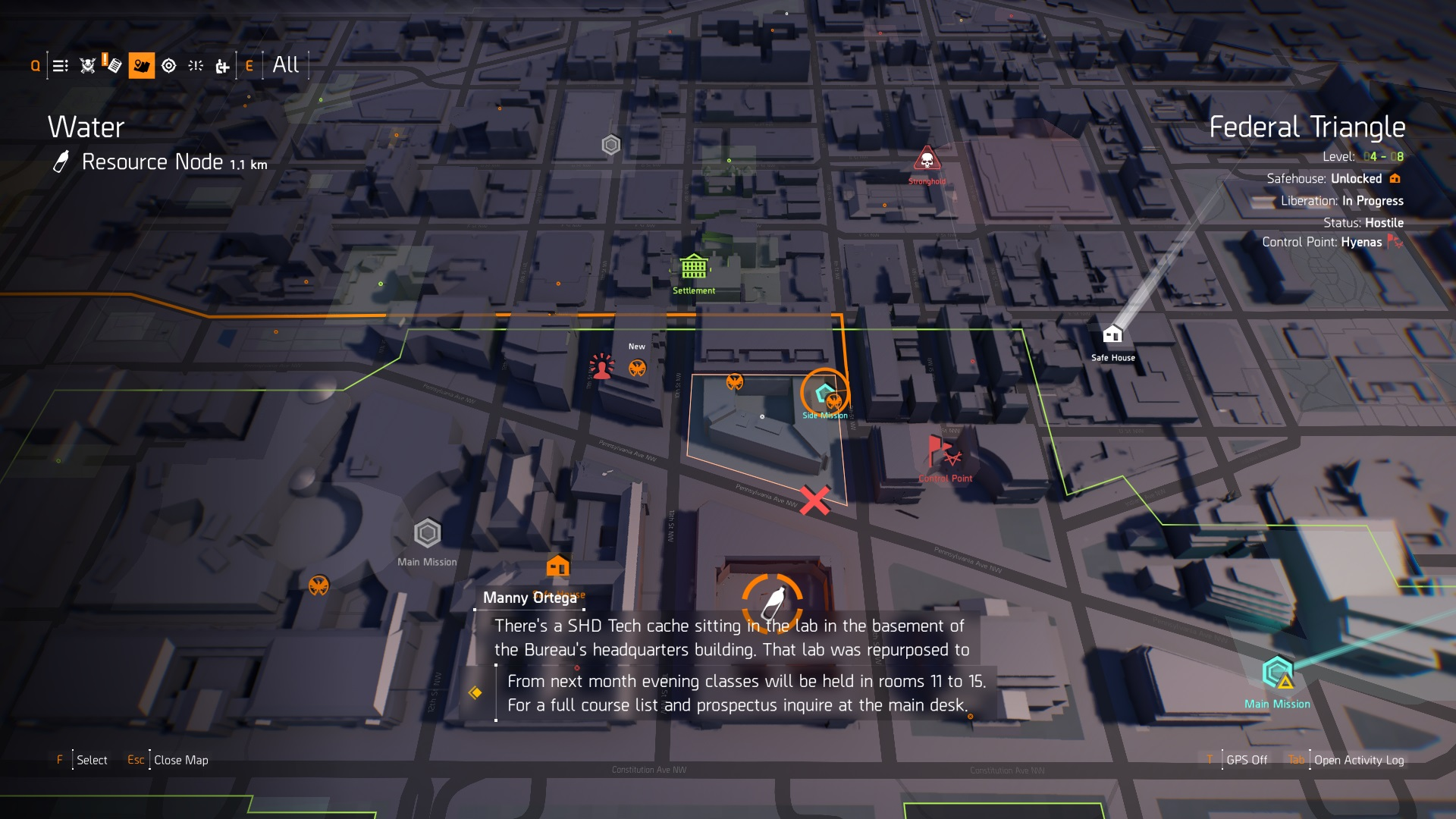 The Division 2 SHD Missions