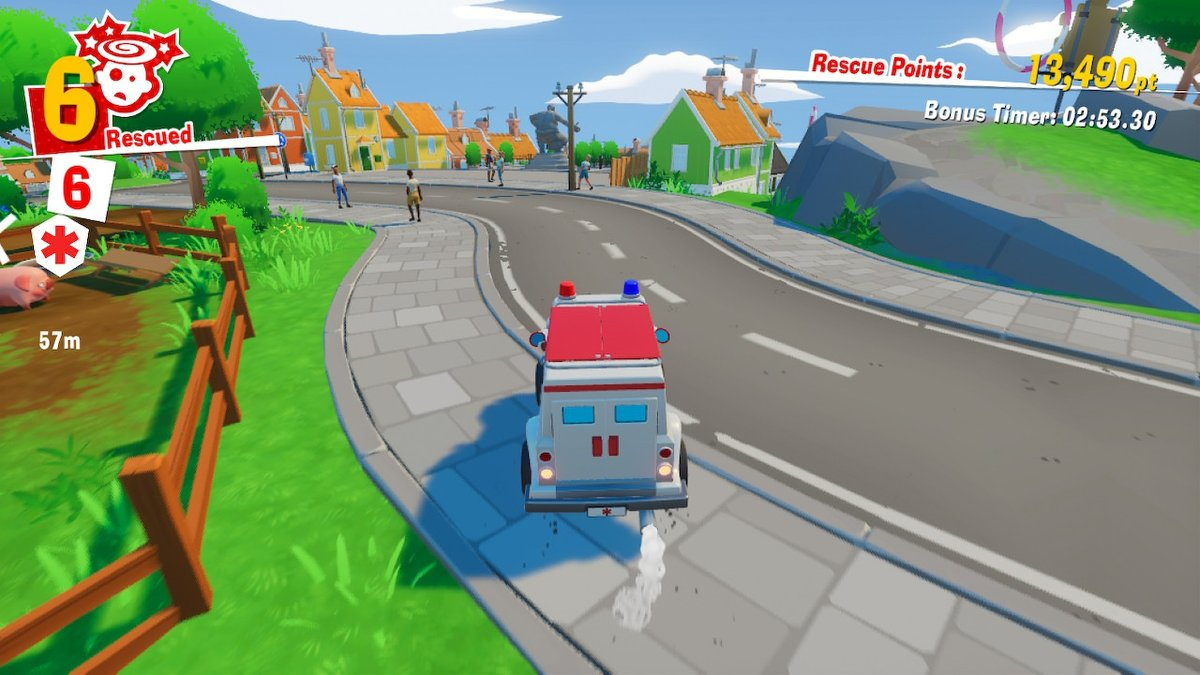 The Stretchers Driving, in-game screenshot
