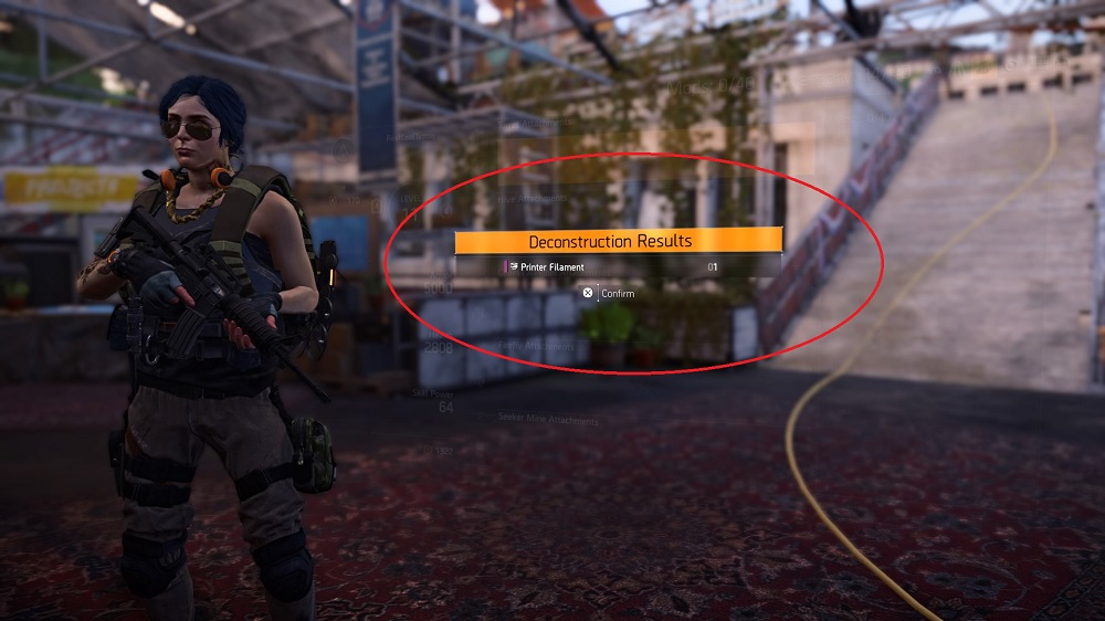 The Division 2 How to Get Printer Filament