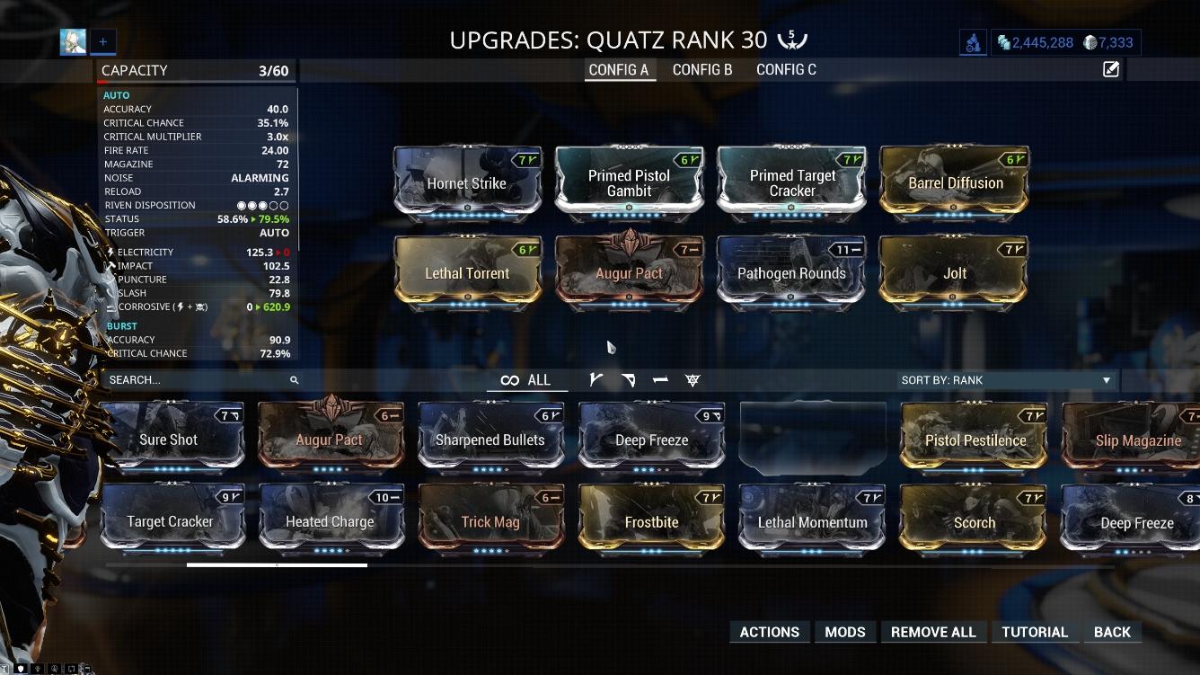 Quatz Build Mods
