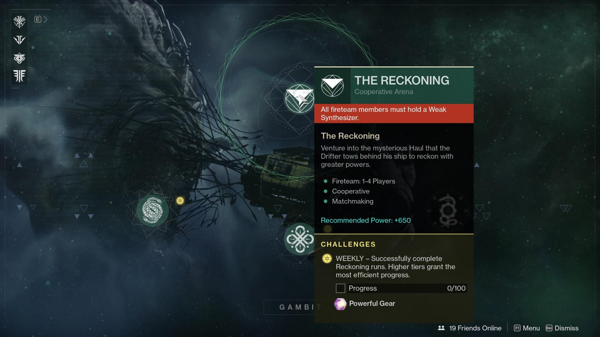 Destiny 2 How to Unlock The Reckoning