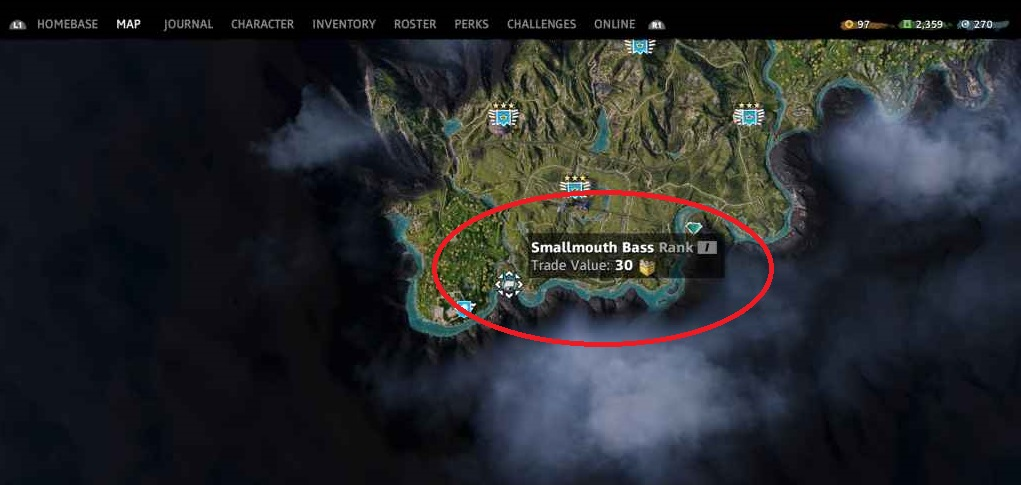Far Cry New Dawn All the fish and their positions