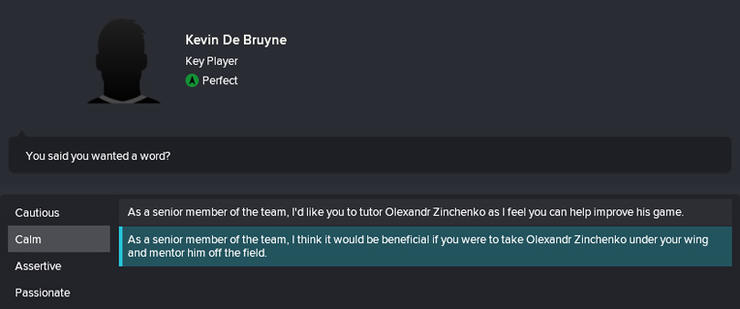 Manager And Player Interaction