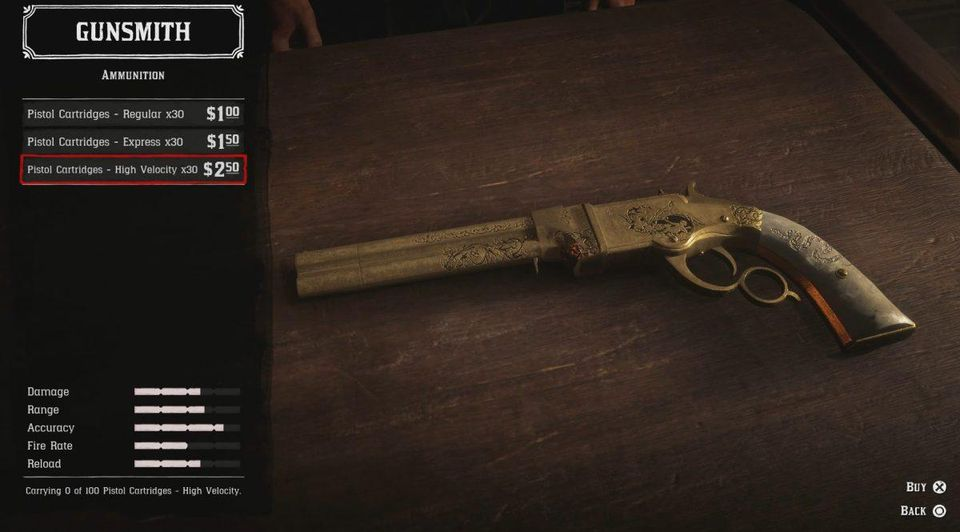 Red Dead Online Store Items