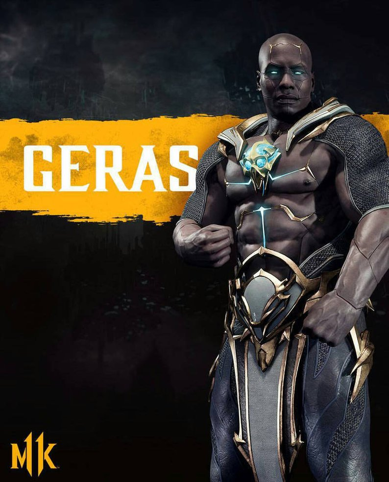 Geras is an all-new character joining the roster of MK11