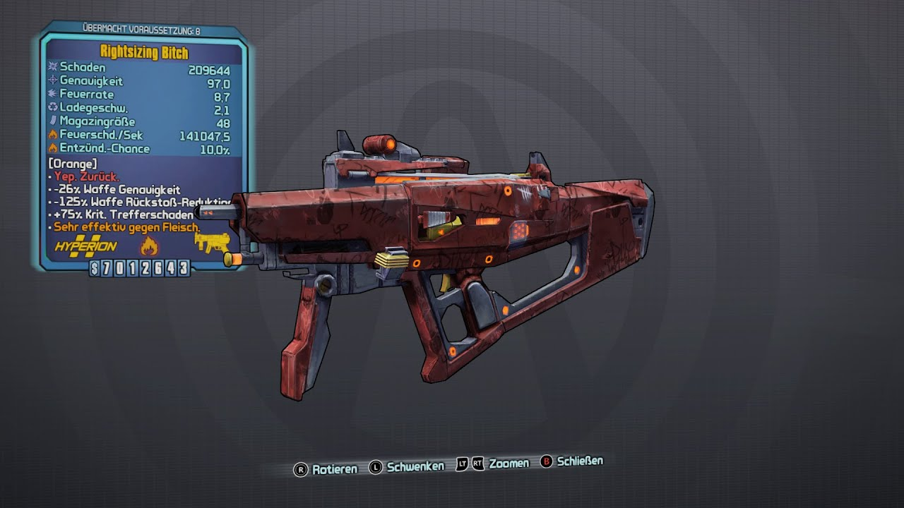 Borderlands 3 Legendary Weapons Preview: SMG