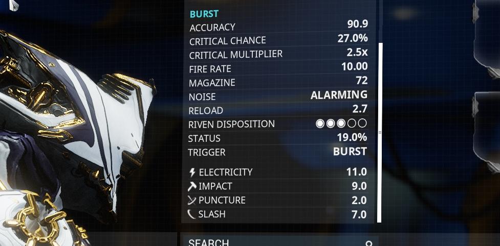 Quatz Burst Stats