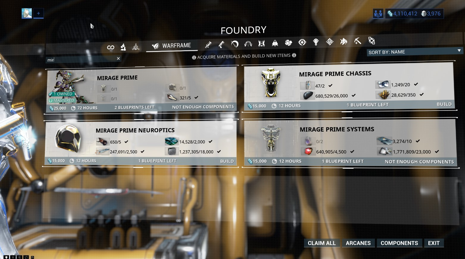 Prime Parts In The Foundry