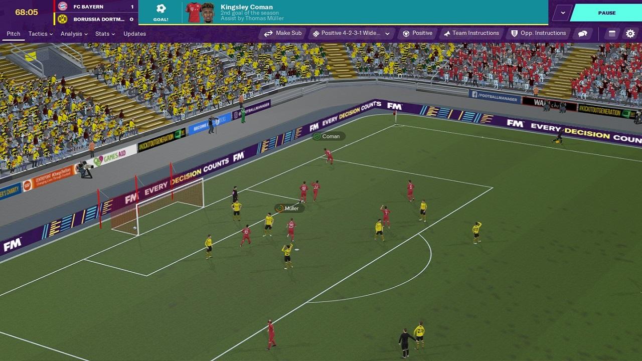 Football Manager 2020 3D Match Screenshot