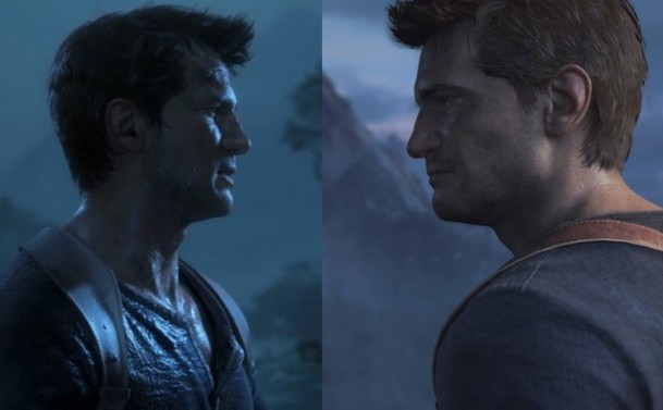 Uncharted 4 E3 2014 vs PSX Gameplay Comparison Screen
