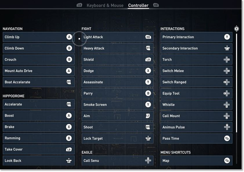 keyboard  mouse controls layout and where to customize it