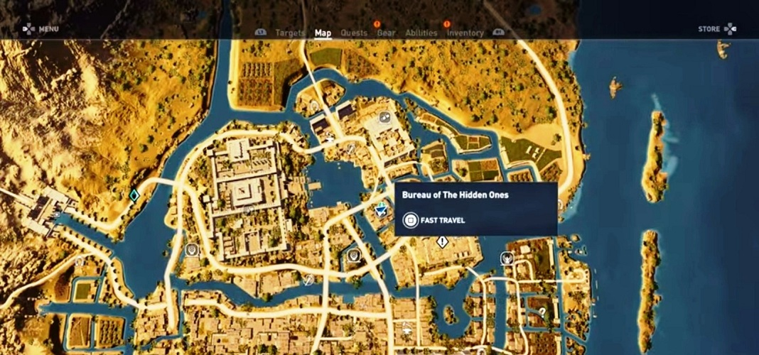 Legendary store location assassin 39 s creed origins for Bureau of the hidden ones