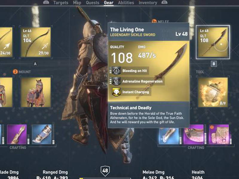 The Living One (Sickle Sword) Location