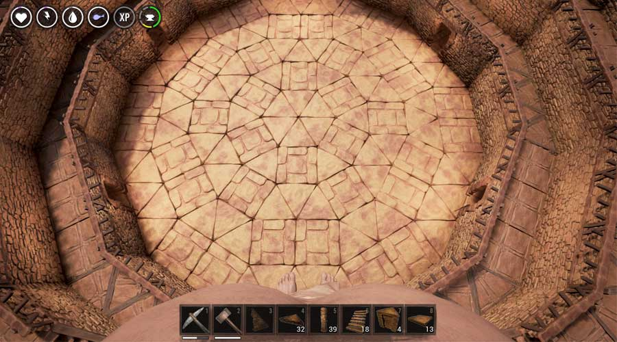 How to Build Circles, Spiral Stairs and Arena in the Conan Exiles