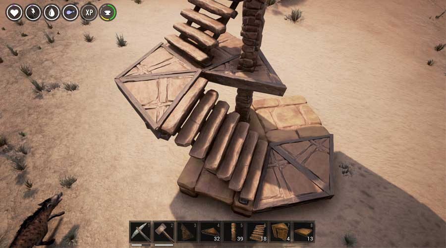 How To Build Circles Spiral Stairs And Arena In The Conan