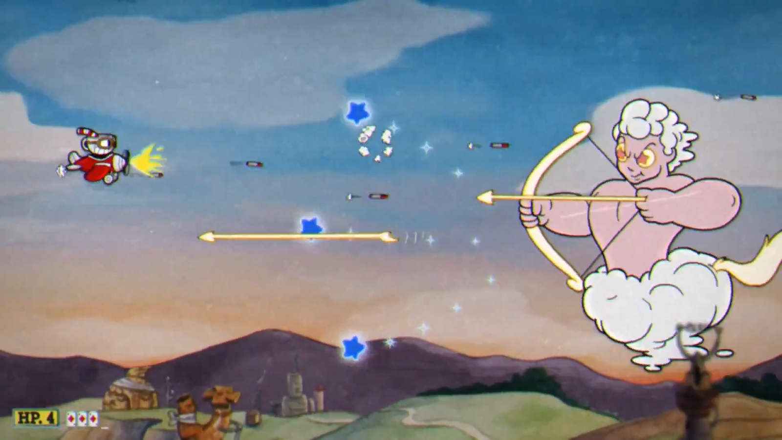 cuphead how to get bombs for plane