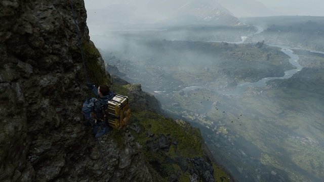 Death Stranding - Sam Climbing Mountain Using Grappling Hook
